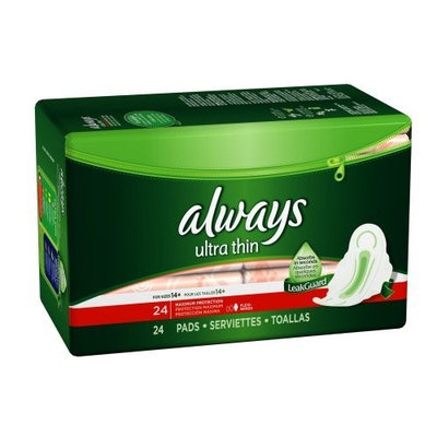 Always Ultra Maximum Protection with Wings Unscented Thin Pads