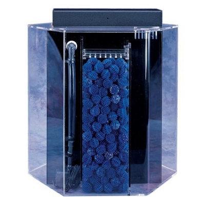 Advance Aqua Tanks Uniquarium Hexagon Aquarium Black, Size: 55-Gal (25W x 24H in.)