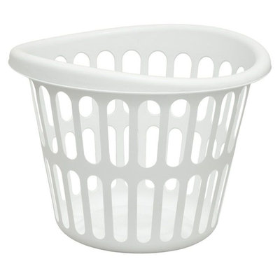 United Comb & Novelty Corp UNITED COMB & NOVELTY CORP. Round Bushel Laundry Basket White - UNITED COMB & NOVELTY CORP.