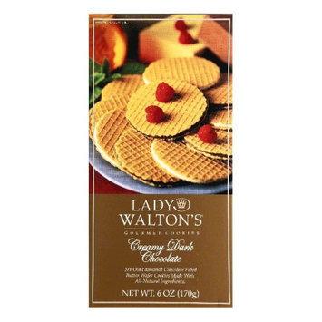 Lady Walton's Lady Waltons Creamy Dark Chocolate Cookies, 6 oz, - Pack of 12