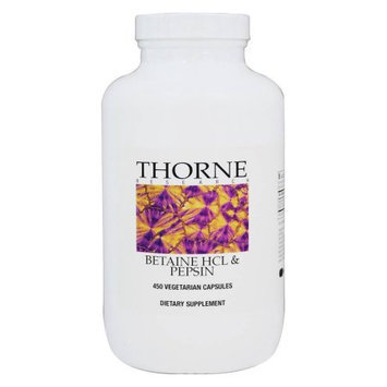 Thorne Research - Betaine HCL/Pepsin - 450 Capsules