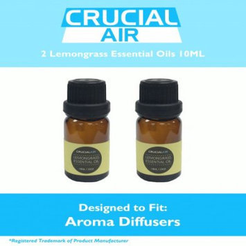 Crucial Air 2 Soothing Lemongrass Infused Essential Oils for Aromatherapy, 10 ml