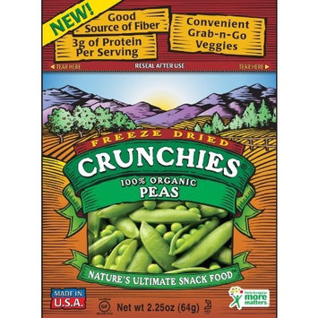 Crunchies Freeze-Dried Snack, 100% Organic Peas, 2.25-Ounce Pouches (Pack of 6)