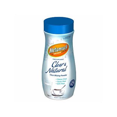 Metamucil Fiber Supplement Clear Mixing Powder