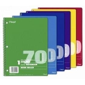 Mead Spiral Bound Notebook