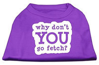 Mirage Pet Products 51-142 SMPR You Go Fetch Screen Print Shirt Purple Sm - 10