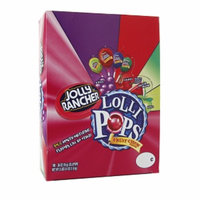 Jolly Rancher Fruit Chew Lollipops Changemaker, Assorted Flavors, 100 ea