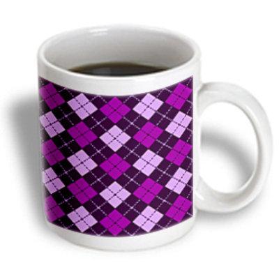 Recaro North 3dRose - Janna Salak Designs Prints and Patterns - Argyle Design Purple - 15 oz mug
