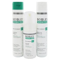 Bosley Defense 3-Bottles Starter Pack for Normal To Fine Non Color, Treated Hair