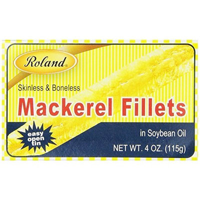 Roland Mackerel Fillets in Soybean Oil, 4-Ounce Cans (Pack of 25)