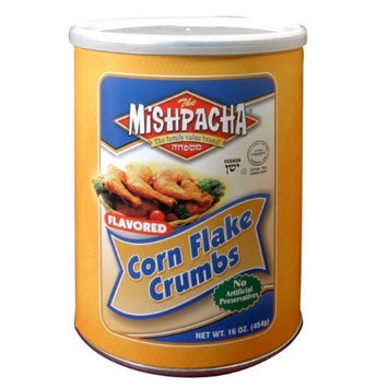 MISHPACHA Corn Flake Crumbs - Plain, 16-Ounce Tubes (Pack of 6)