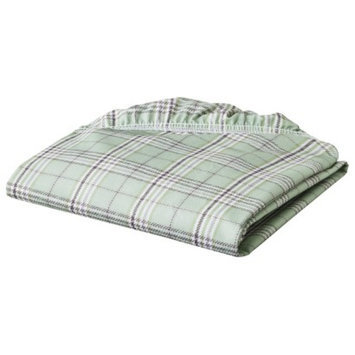 Eddie Bauer Sage Plaid Fitted Crib Sheet