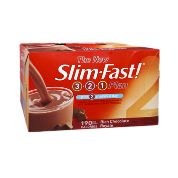 Slim-Fast! 3-2-1 Plan Rich Chocolate Royale Shakes - 6 CT