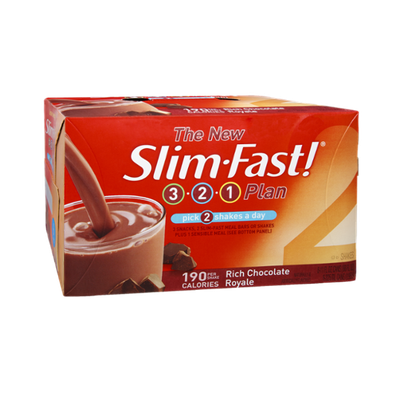 SlimFast 3.2.1 Plan Rich Chocolate Royale Shakes