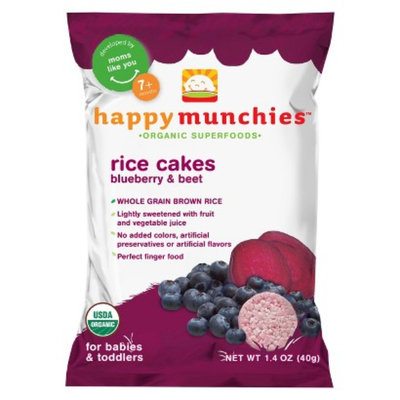 Happy Munchies Happymunchies Organic Rice Cakes Blueberry & Beets 1.4 oz