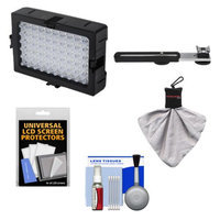 DLC 5600K LED Video Light with Bracket + Accessory Kit for Camcorders & Digital SLR Cameras