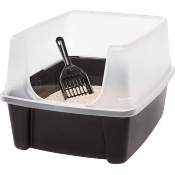 Iris IRIS Open Top Litter Box with Scoop, Black