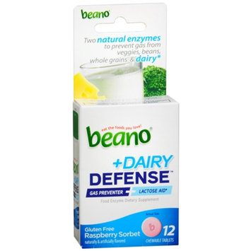 Beano Plus Dairy Defense Food Enzyme Dietary Supplement Tablets, Raspberry, 12 ea