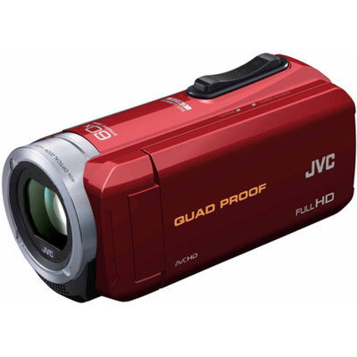 JVC Red GZ-R10 All-Weather Full HD Camcorder with 40x Optical Zoom and 3.0