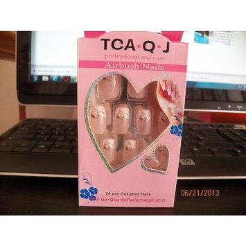 TCA.Q.J Hello Kitty 24 Piece French Nail Medium Length Press on Nail Pink
