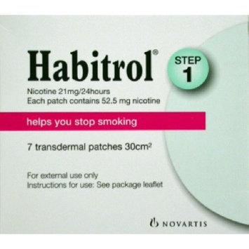 Habitrol Nicotine Transdermal System Step 1, 21mg Stop Smoking Aid Patch - 7 ea