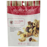Nutorious Nut Confections Cherry Vanilla Va-Voom, 2-Ounce Pouches (Pack of 12)