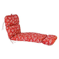 Jordan Outdoor Chaise Lounge Cushion - Red/Tan Floral