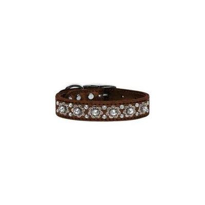Mirage Pet Products 83-30 16Bz Metallic Fancy Jewel Leather Bronze 16