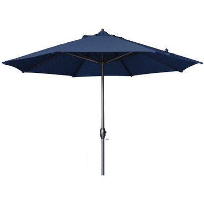 Lauren & Company 9-ft Round Navy Blue Patio Umbrella with Tilt-and-Crank LCATA-NAVZ
