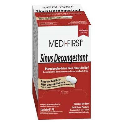 MEDI-FIRST 80913 Sinus Decongestant, Tablet, PK500