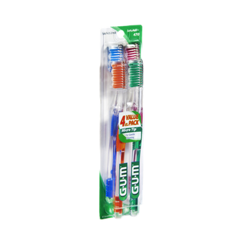 GUM Micro Tip Soft/Full Toothbrushes - 4 CT