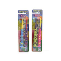 10dent Pack of 2 Suction Cup Base Toothbrush for Kids (Color May Vary)