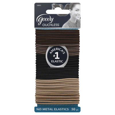 Goody Products Inc. Ouchless Skinny Hair Elastics- Starry Nights, 50 pcs