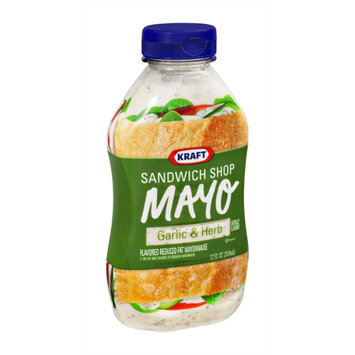 Kraft Sandwich Shop Mayo Garlic & Herb Flavored Reduced Fat Mayonnaise