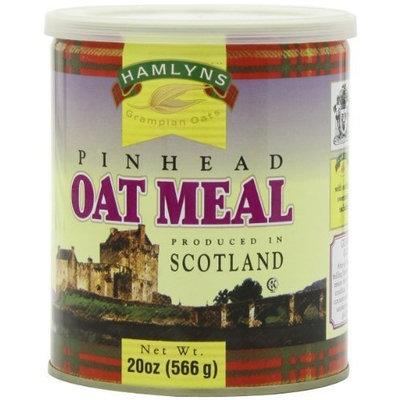 Hamlyns Hamlyn's Pinhead Oatmeal, 20-Ounce Tins (Pack of 6)