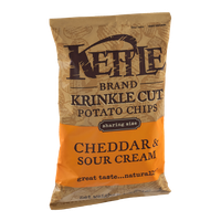 Kettle Brand®  Krinkle Cut Cheddar & Sour Cream Potato Chips