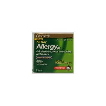 Good Sense GoodSense Cetirizine HCl Tablets, 10 mg Antihistamine ,14-Count