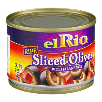 El Rio Ripe Sliced Olives with Jalapenos
