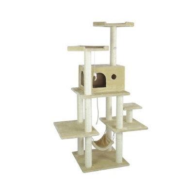 BestPet 11B Cat Tree Condo Furniture Scratch Post Pet House, 70-Inch