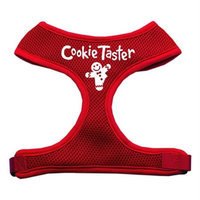 Mirage Pet Products 7008 LGRD Cookie Taster Screen Print Soft Mesh Harness Red Large