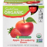 Santa Cruz Organic Apple Strawberry Sauce, 3.2 OZ (Pack of 6)