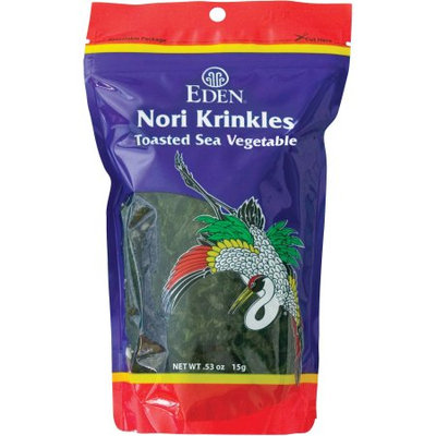 Eden Organic Eden Nori Krinkles Toasted Sea Vegetable, 53 oz, (Pack of3)