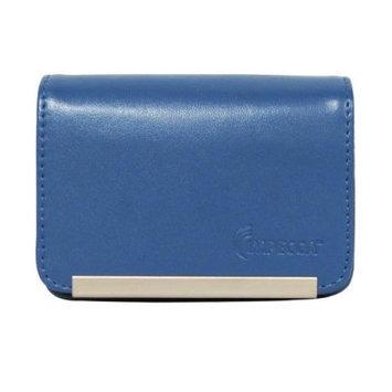 Impecca DCS86B Compact Leather Digital Camera Case - Blue