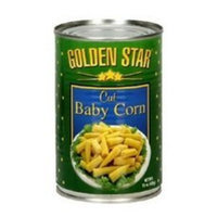Golden Star Corn, Cut Young, 15-Ounce (Pack of 12)