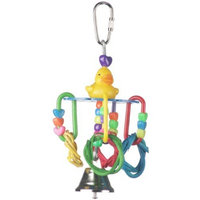 Super Bird Creations 6 by 3-Inch Lucky Ducky Bird Toy, Small