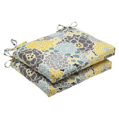 Pillow Perfect Outdoor 2-Piece Square Edge Seat Cushion Set - Lois