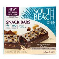 South Beach Diet Snack Bars, Nutty Brownie, 5 ea