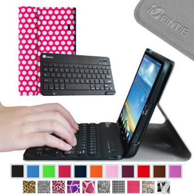 Fintie Wireless Bluetooth Keyboard Case for LG G PAD 8.3 Model V500/V510 (Wifi) & VK810 (Verizon 4G LTE), Polka Dot Pink