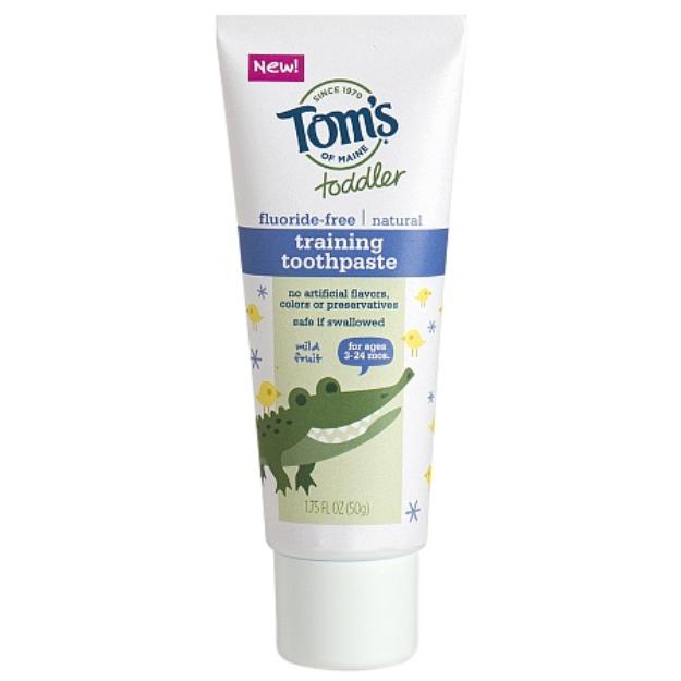 Tom's of Maine Toddler's Fluoride-Free Natural Toothpaste, Mild Fruit, 1.75 oz