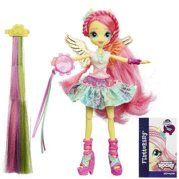 My Little Pony Equestria Girls Rainbow Rocks Fluttershy Rockin' Hairstyle Doll - HASBRO, INC.